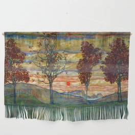 Four Trees - Egon Schiele Wall Hanging