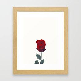 A Rose Was Born Framed Art Print