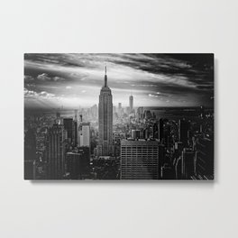 Black and White NYC Metal Print