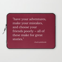 What Great Stories Are Made Of (Wine) Laptop Sleeve