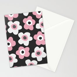 White and pink flowers Stationery Cards