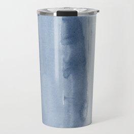 Absctract shades of blue watercolor print Travel Mug