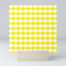 Yellow Fan Shell Pattern Mini Art Print