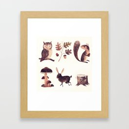 What you might find in the forest Framed Art Print