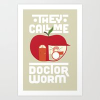 Dr Worm Art Print
