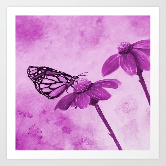 Radiant Orchid Butterfly Art Print