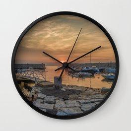 Summer sunset at Lanes Cove Wall Clock