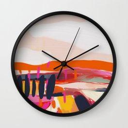 landscape pink peachy abstract Wall Clock