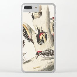 Naturalist Woodpeckers Clear iPhone Case
