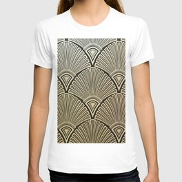 Golden Art Deco pattern T-shirt