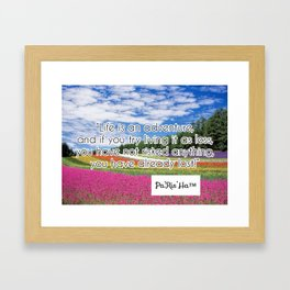 Inspirational Quotes from Pa'Ris'H Framed Art Print