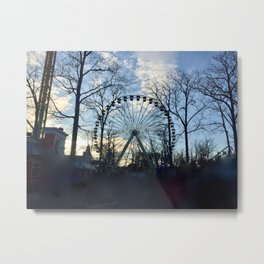 Ferris Wheel Color Metal Print