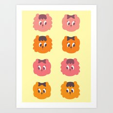 Singa The Lion Art Print