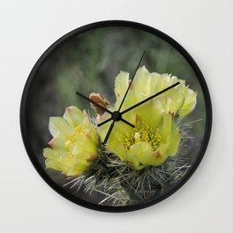 California Cactus Blooms Wall Clock