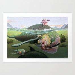 Amigos Ballena Art Print
