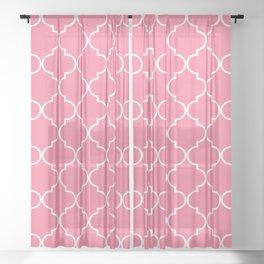 Quatrefoil - Watermelon pink Sheer Curtain