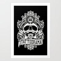 logo Art Prints featuring Logo by Tattoorama