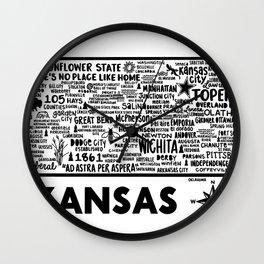 Kansas Ma Wall Clock