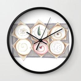 Cupcake Illustration Wall Clock