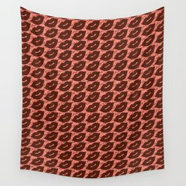 Sexy Lips Seamless Pattern Wall Tapestry