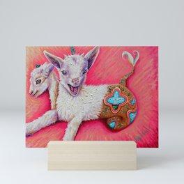 Capricorn baby mergoat by Nefertara Mini Art Print