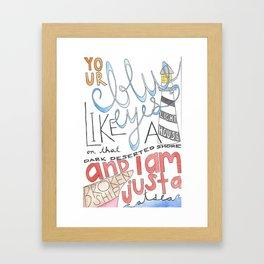 PBR Promenade  Framed Art Print
