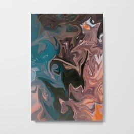 Molten Lava Water Slide Metal Print