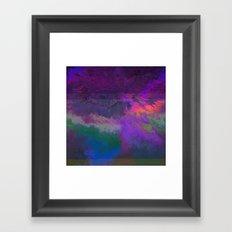 66-63-18 (Universe Rising Glitch) Framed Art Print
