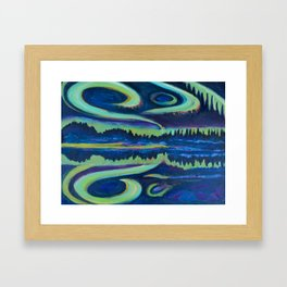 Yellowknife Aurora Framed Art Print