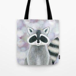 raccoon woodland animal portrait Tote Bag