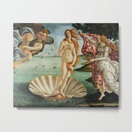 The Birth of Venus Painting by Sandro Botticelli Metal Print