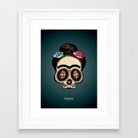 frida Framed Art Prints featuring Frida by mangulica