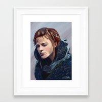 ygritte Framed Art Prints featuring Ygritte by Josh Filhol Illustration