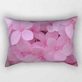 Pink Hydrangea - Flower Photography Rectangular Pillow