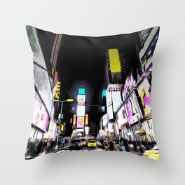 Times Square New York Art Throw Pillow