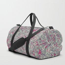 monstera leaves pink Duffle Bag