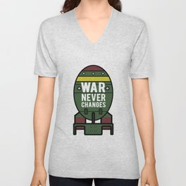 War Never Changes (Nuke) Unisex V-Neck