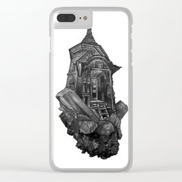 Selenite Lighthouse Clear iPhone Case
