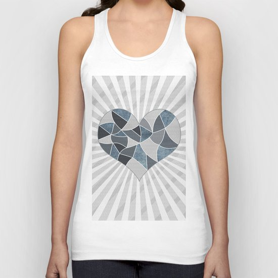 Heart . Patchwork .2 Unisex Tank Top