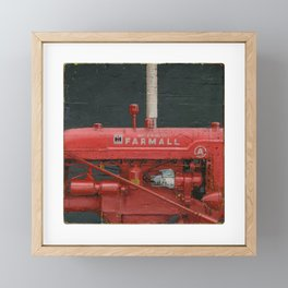 vintage IH farmall tractor series A Framed Mini Art Print