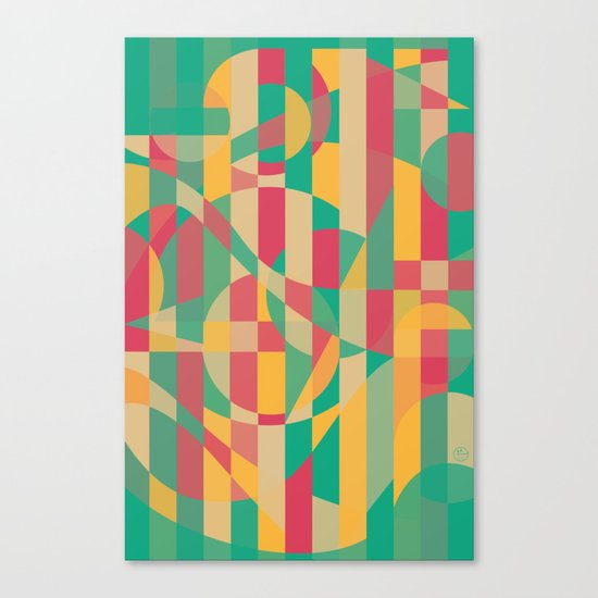 Abstract Graphic Art - Contemporary Music Canvas Print