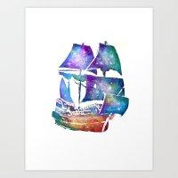 Galaxy Ship  Art Print