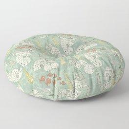 arctic retro Floor Pillow
