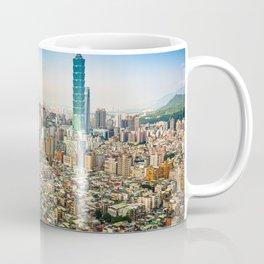 Aerial view and cityscape of Taipei, Taiwan Coffee Mug