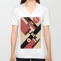 bauhaus V-neck T-shirts featuring Bauhaus by Disfigured Circumstance