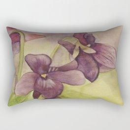 Lily Watercolor Painting Rectangular Pillow