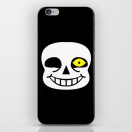 Sans Skull Bad Time iPhone Skin