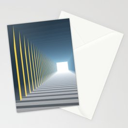 Linear Perspective of Light Stationery Cards
