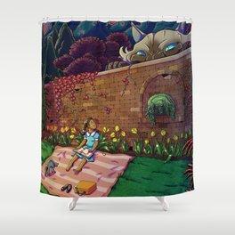 Amy In Wonderland Shower Curtain