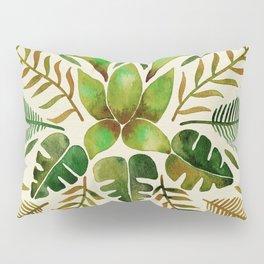 Tropical Symmetry – Olive Green Pillow Sham